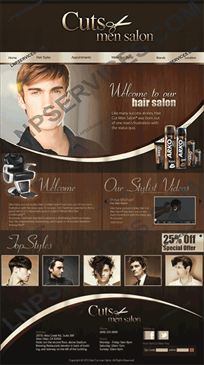 LNP Services Web Design - Hair Cuts Portal
