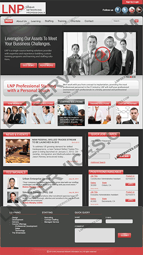 LNP Services Web Design - Staffing Portal