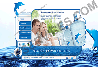 LNP Services Web Design - Mineral Water Website