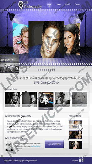LNP Services Web Design - Photography Website