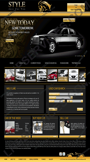 LNP Services Web Design - Car Portal